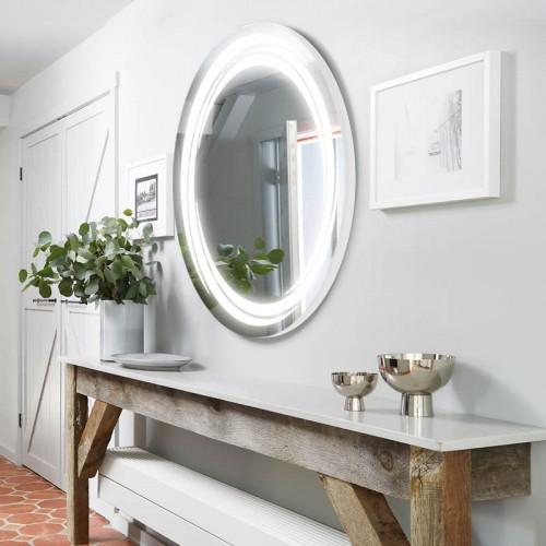 """Зеркало в ванную комнату с лед подсветкой """"Камелия"""""""