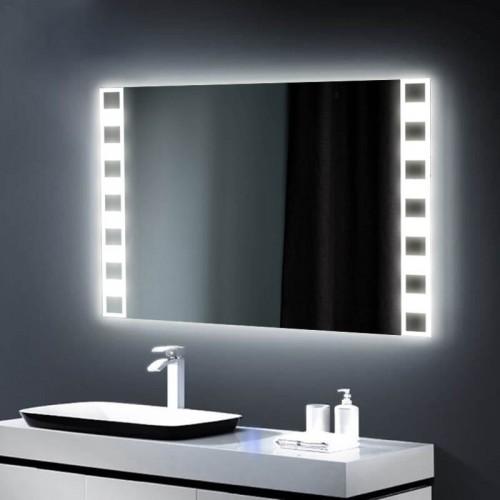 "Зеркало в ванную комнату с 3D подсветкой ""Агат"""