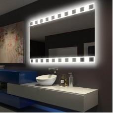 "Зеркало в ванную комнату с 3D подсветкой ""Кварц"""