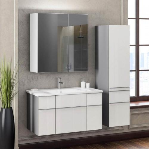 Зеркальный шкафчик в ванную комнату без подсветки Ш 11
