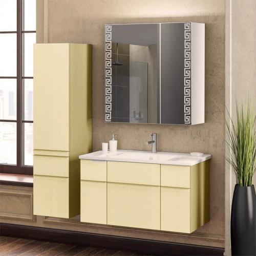 Зеркальный шкафчик в ванную комнату без подсветки Ш2195