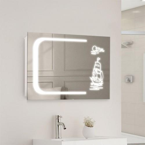 "Зеркало в ванную с LED подсветкой ""Парус"""