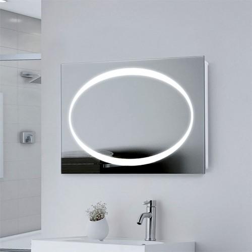 """Зеркало в ванную комнату с подсветкой с LED подсветкой """"Овал"""""""