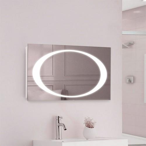 """Зеркало в ванную комнату с LED подсветкой """"Элипс"""""""