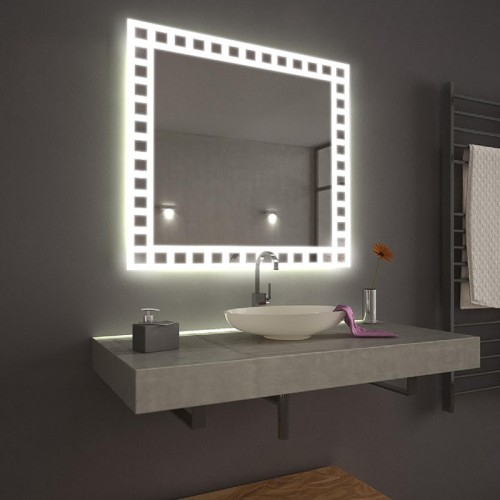 "Зеркало в ванную комнату с 3D подсветкой ""Монро"""